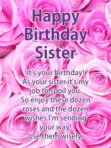 Elder Sister Is Like A Mother Sis Sweetandcaring Birthday