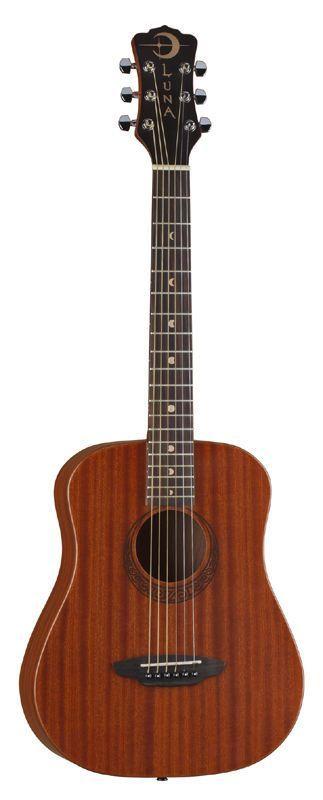 Luna Saf Mus Mah Safari Muse Wood Acoustic Guitar With Gig Bag Safmusmah New Acoustic Guitar For Sale Luna Guitars Guitar