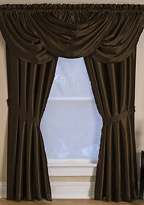 Versailles Window Collection Waterfall Valance Panel Curtains