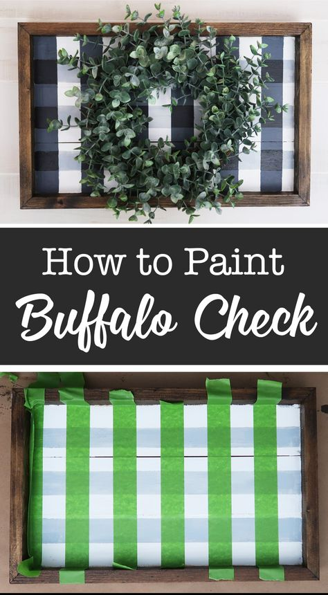 DIY Buffalo Check Sign