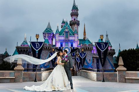 Disneyland Castle - Disney Themed Weddings Fit for a Princess - Photos