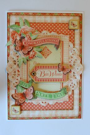 Time To Celebrate Graphic45 Romy Veul Card Gift Bag Step4 Graphic 45 Art Craft Cards Card Tutorials
