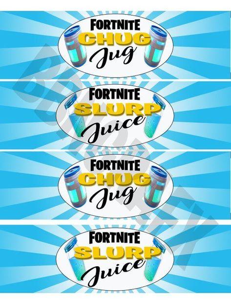 photo about Chug Jug Printable named Fortnite Slurp Etsy