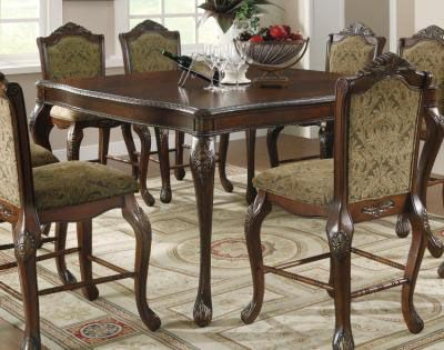 counter height table brown | Coaster 103118 Andrea Pedestal Brown Cherry Counter Height Table