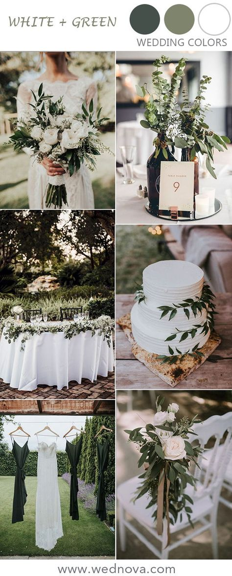 greenery and white wedding color ideas #weddings #weddingdecor #rusticweddingideas #weddingideas #outdoorwedding #weddinginspirations #rusticwedding #greenerywedding #greenwedding
