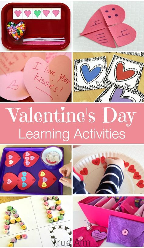 Valentine Themed Learning Activities via True Aim Education