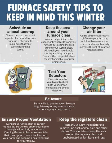 Furnace Safety Tips Infographic Furnacetips Safetytips