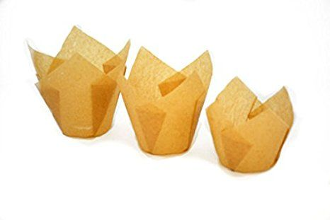 Large Muffins Cupcake Paper Tulip Cup Liners Natural Color 2 X 3 1 2 200pcs Review Baking Cups Paper Cupcake Muffin Cups