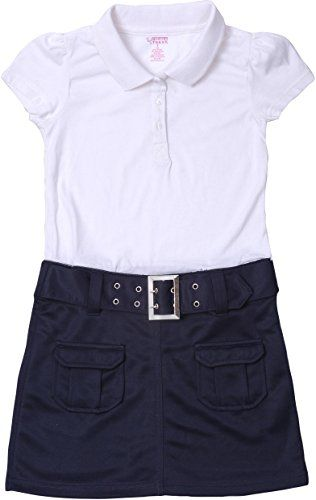 French Toast School Uniform Girls Belted Polo Dress >>> Review more…