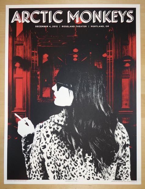 ARCTIC MONKEYS Deerhunter MSG 2013 Music Concert Poster Art