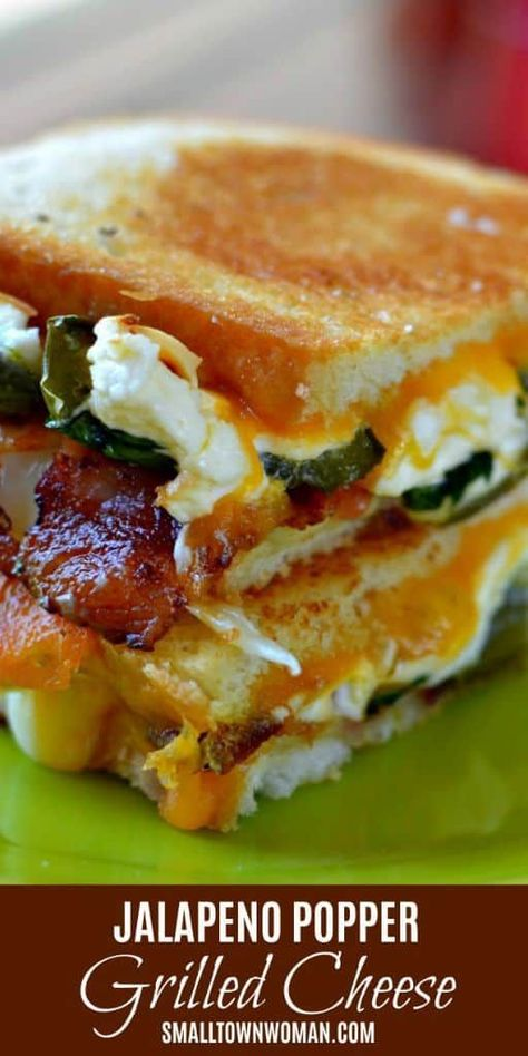 Jalapeno Popper Grilled Cheese   Grilled Cheese   Sandwich   Lunch   Dinner   Jalapeno Popper   Jalapeno Recipe   Small Town Woman #grilledcheese #jalapenopoppergrilledcheese