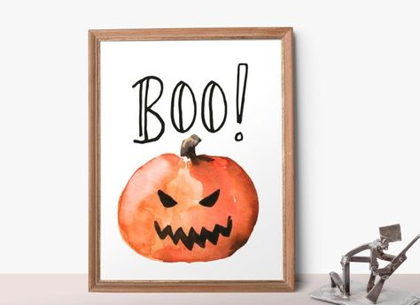 Halloween Printable Decor Boo Printable Pumpkin Printable
