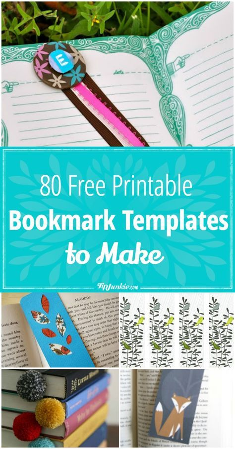 80 Free Printable Bookmarks To Make With Images Free Printable