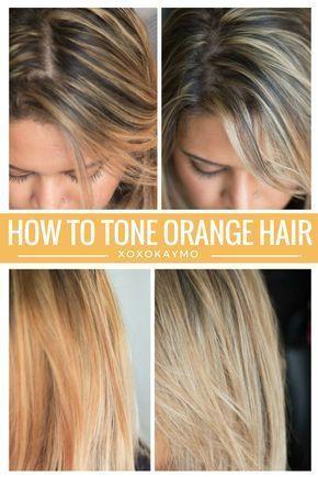 How To Tone Brassy Hair At Home Brassy Hair Tone Orange Hair