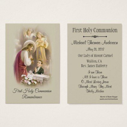 Boy Remembrance Holy Card First Holy Communion - Traditional Gift