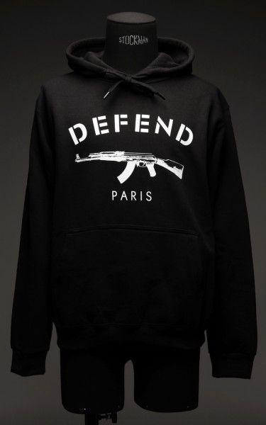 Hoodie Defend Paris   Hoodies, Cool outfits, Long sleeve sweater