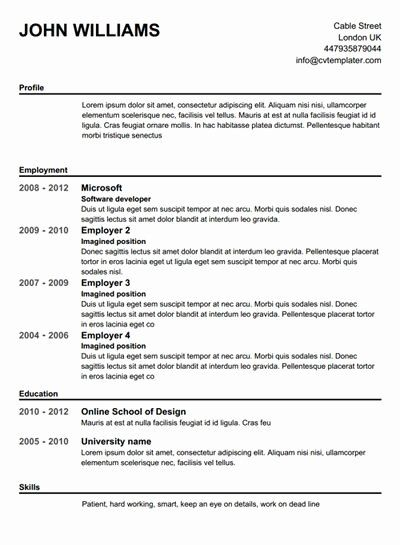 High School Resume Builder Best Of Best 25 Free Cv Builder Ideas Only On Pinterest In 2020 Free Resume Builder Resume Template Free Free Printable Resume