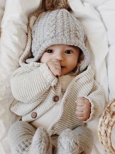 144f63286b45d Sweet Baby in Neutrals | Baby | Baby boy fashion, Baby winter, Cute ...