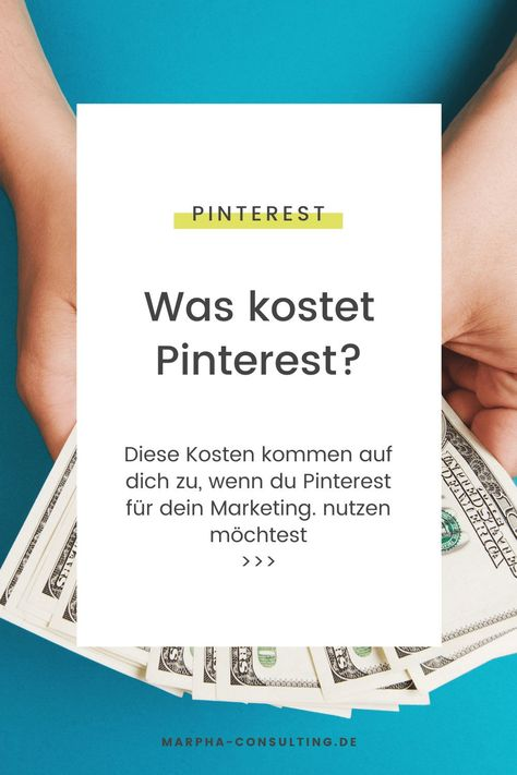 Was kostet Pinterest?