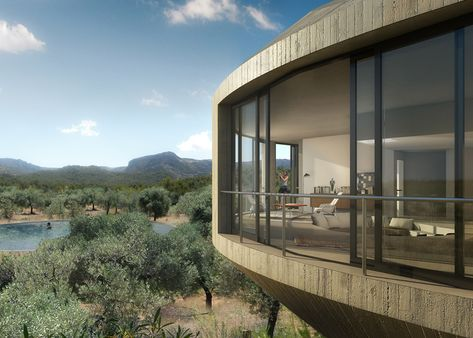 Johnston Marklee designs rotunda residence for series of Spanish holiday homes