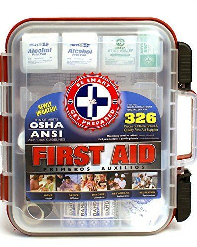 The Be Smart Get Prepared First Aid Kit Complies Or Exceeds All Osha Guidelines For Small Business And Emergency First Aid Kit Emergency Survival Kit First Aid