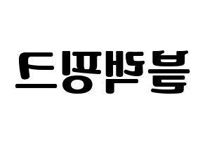Black Pink 블랙핑크 ブラックピンク 応援ボード うちわ用 韓国語 ハングル文字型紙 左右反転 うちわ 型紙 ハングル文字 うちわ