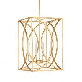 Society Hill Chandelier Large Gold Modern Lantern