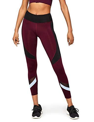 AURIQUE Damen Sportleggings mit hohem Bund und Colour-Block-Design Marke