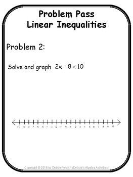 Linear Inequalities In One Variable Problem Pass Digital Distance Learning Linear Inequalities Solving Linear Equations Inequality