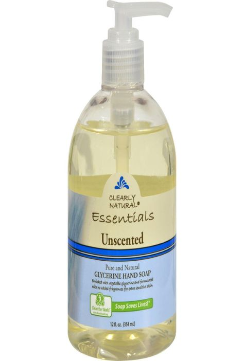 Clearly Natural Pure And Natural Glycerine Hand Soap Unscented 12 Fl Oz Pure Products Natural Essentials Unscented