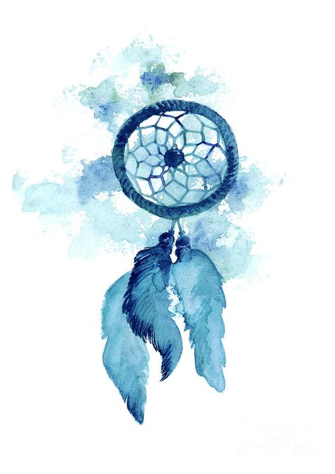 Dream Catcher Watercolor Art Print Painting