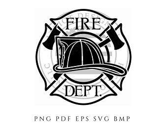 Fire Dept Maltese Cross Firefighter Vector By Patriotdesignllc