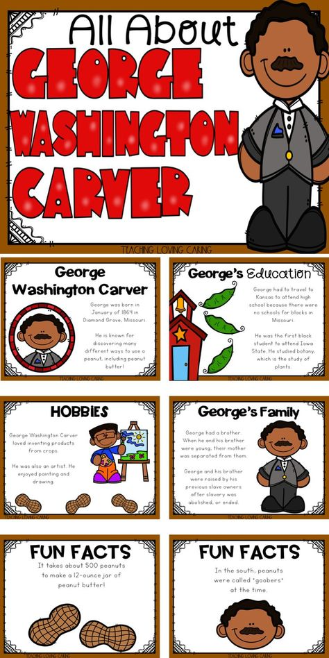 All About George Washington Carver - Black History Month - Distance Learning