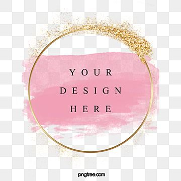 Pink Watercolor Brush Gold Powder Metal Luxury Border Luxurious Hand Painted European Style Png Transparent Clipart Image And Psd File For Free Download Pink Watercolor Free Printable Art Gold Powder