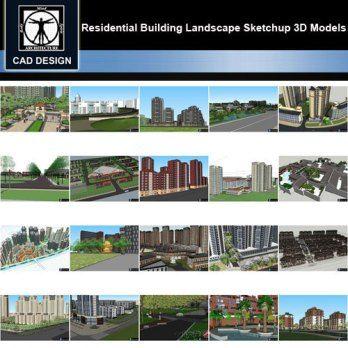 Sketchup 3d Models 20 Types Of Residential Building Landscape