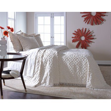 Home Bed Spreads Chenille Bedspread White Bedspreads