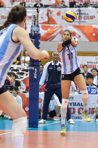 Julieta Constanza Lazcano Photos Photos Argentina V Algeria Fivb Women S Volleyball World Cup Japan 2015 Women Volleyball Volleyball Argentina