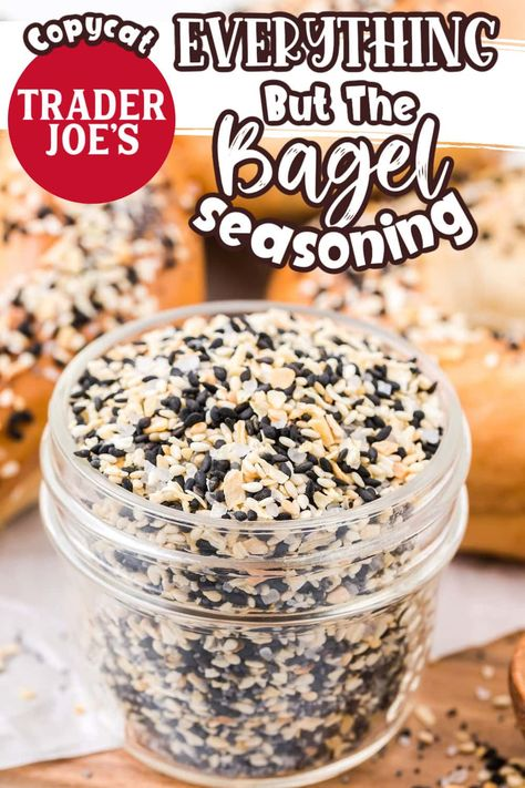Everything Bagel Seasoning is a tasty blend of sesame and poppy seeds, onion, garlic, and salt that's typically found on top of everything bagels. My copycat Trader Joe's Everything But The Bagel recipe goes great on anything, and you can easily make it at home, saving time and money!