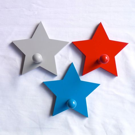 Kids Coat Hooks Wall Star