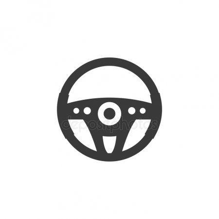 Car Steering Wheel Icon Vector Illustration Flat Design Stock Vector Ad Wheel Icon Car Vector Illustration Infographic Illustration Illustration