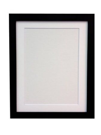 Frames By Post 25 Mm Wide H7 Picture Photo Frame With White Mount 20 X 16 Inch For Pic Size 15 X 10 Inch Plastic Glass Black Amazon Co Uk Frame