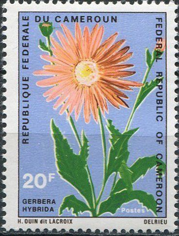 All The Colours Of The Dark Federale Stamp Gerbera Hybrida Cameroon Flowers Mi Cm 645 Sn Cm 516 Yt Cm 496 Flower Stamp Gerbera Stamp