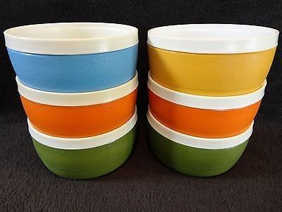 25 Vintage Sun Frost Therm O Ware Insulated Bowls Set Lot Of 6