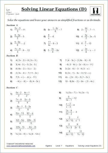 9 Grade Algebra 1 Worksheets Printable Worksheets Are A Valuable Classroom Tool They Not In Simpl In 2021 Algebra Worksheets Grade 9 Math Worksheets Math Worksheets