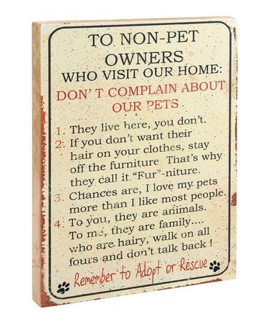Loving This Non Pet People Rules Block Sign On Zulily Zulilyfinds Cat Lover Gifts Funny Pet People Pet Owners