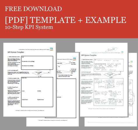 Free Download of a 10-Step KPI System Template KPIs Pinterest - scorecard template