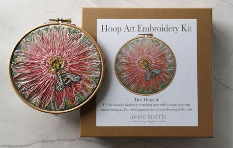 Annie Morris Hoop Art Embroidery Kit BUMBLEBEE HOPEFUL