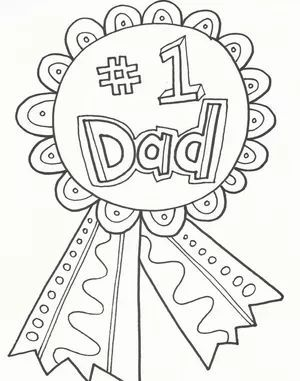 A Coloring Page That Says 1 Dad On A Ribbon Button Button Coloring Dibujos Dia Del Padre Manualidades Para El Dia Del Padre Manualidades Dia Del Padre