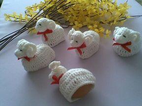Szydelkowe Baranki Wielkanocne Prezent 6732918425 Oficjalne Archiwum Allegro Easter Crochet Christmas Crochet Easter Eggs