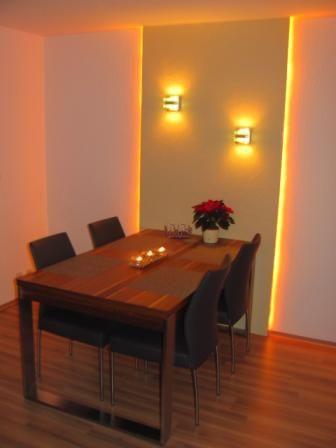 Stuckleisten, Lichtprofil für indirekte LED Beleuchtung von Wand - schlafzimmer beleuchtung led